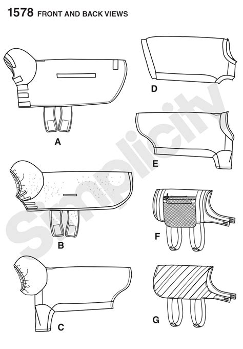 dog clothes pattern making simplicity 1578 large size dog clothes