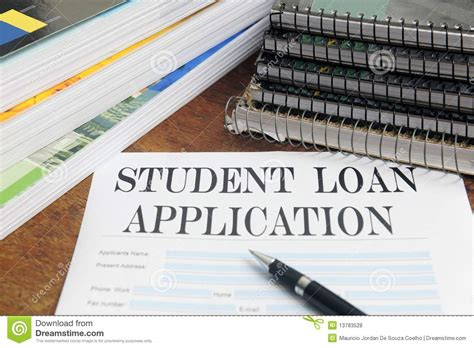 my student loans books blank student loan application on desktop royalty free