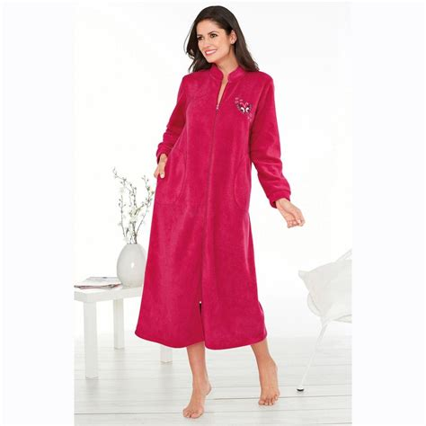 robe de chambre fermeture 馗lair femme robes de chambre hiver femme
