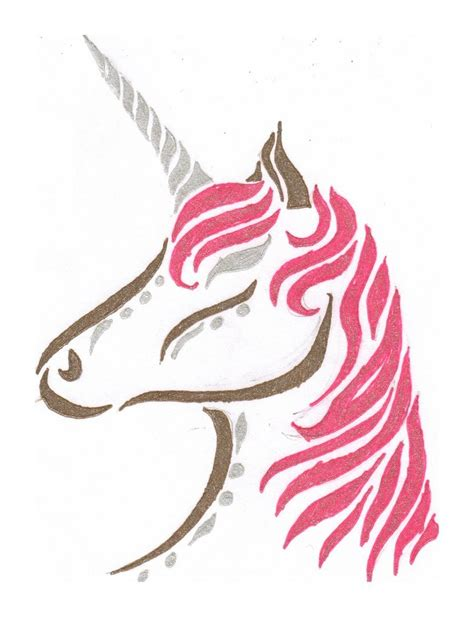 unicorn tattoo design by bloodmoonequinox on deviantart