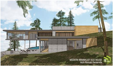 modern eco homes 3d challenge august 2014 modern minimalist eco house