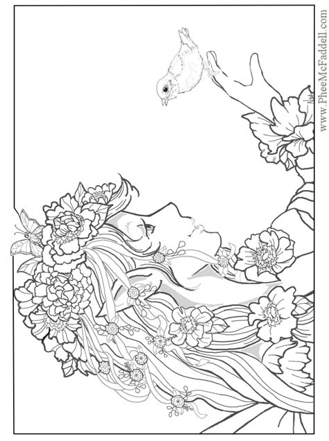 coloring pages for adults fairies free coloring pages of