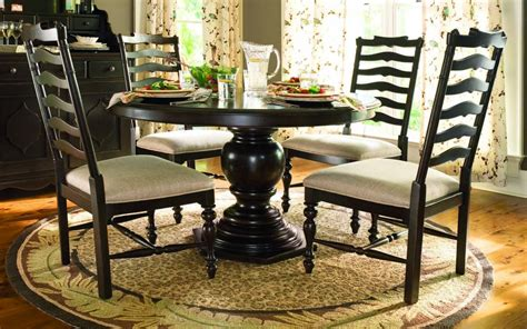 Paula Deen Dining Tables Paula Deen Home 5 Pc Pedestal Set W Mike S Chairs In Tobacco Code Univ20 For 20 By Dining