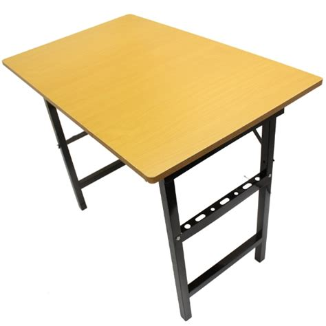 1m folding portable table with wooden wood top for work