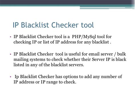 Ip Address Blacklist Lookup Ip Blacklist Checker Script Php Blacklist Checker Tool