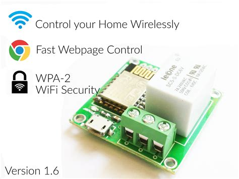 esp8266 simple relay home automation board from