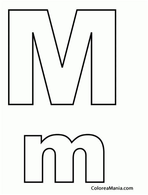 letra m m colorear letra m m abecedarios dibujo para colorear gratis