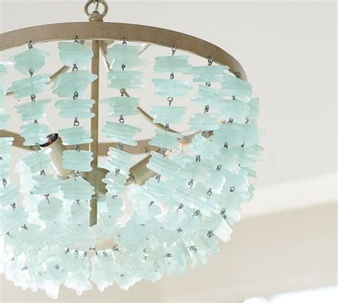 6 Light Pendant Chandelier Enya Sea Glass Chandelier Everything Turquoise
