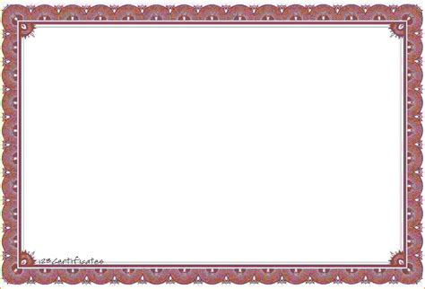 free printable certificate border templates 8 template certificate bookletemplate org