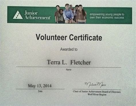 junior achievement certificate template junior achievement certificate template 2013 choice image