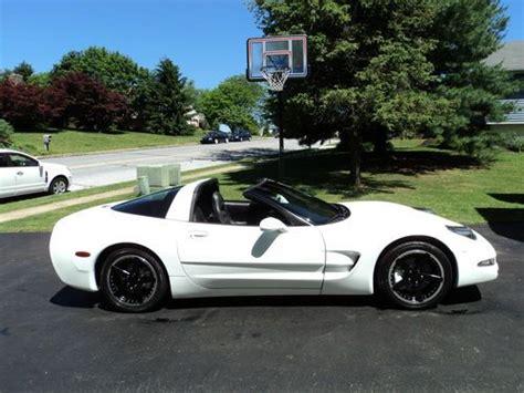 1998 white corvette sell used 1998 corvette white removeable top 18 quot wheels