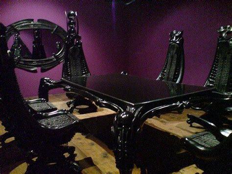 Hr Giger Dining Room Set coffin beds black purple bedroom beautiful