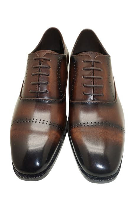 Cowhide Leather Shoes - brown genuine cowhide leather oxfords dress shoes for