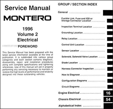 service manual free car repair manuals 1996 mitsubishi montero regenerative braking 1983