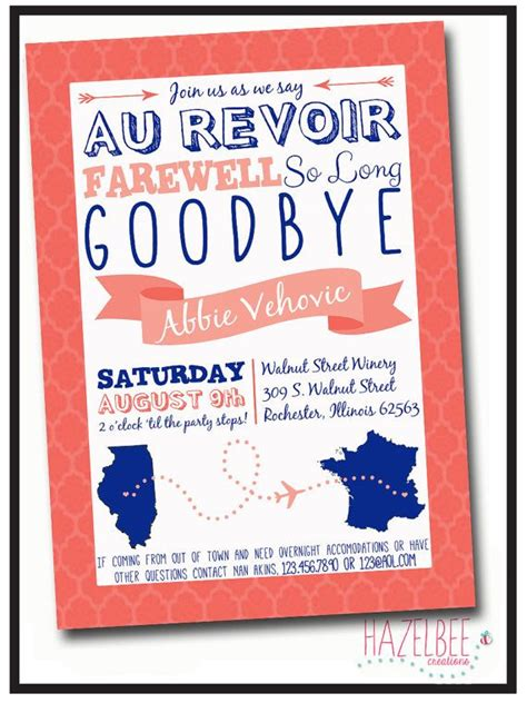 moving away card templates going away invitation by hazelbeecreations on etsy