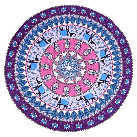 indian pattern yoga mat round mandala indian hippie tapestry beach picnic throw