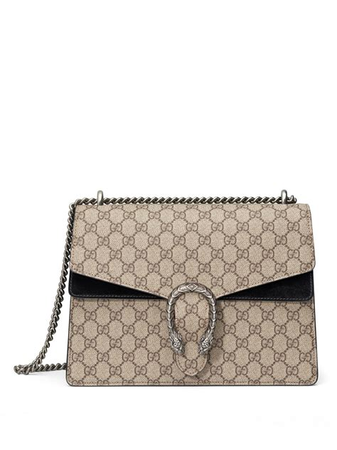 Gucci Gg Supreme Backpack Canvas And Studded Leather 15055 Btc 04 gucci dionysus gg supreme medium canvas shoulder bag in beige beige black lyst