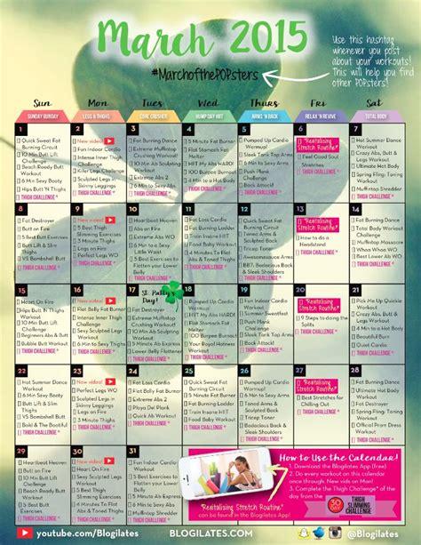 Blogilates Calendar Blogilates April 2016 Workout Calendar Calendar Template