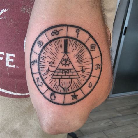 bill cipher tattoo gravity falls inspirations for