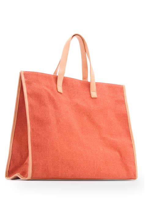 Mango Touch Original Handbag Shopper Bag mango touch bicolour shopper handbag in orange 51 lyst