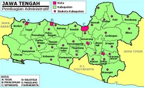 Republik Indonesia Propinsi Djawa Tengah nama kabupaten kota di provinsi jawa tengah negeri pesona