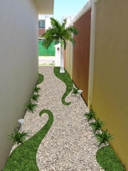 imagenes jardines minimalistas jard 237 n creativo con pasto gravilla y bamb 250 183 dise 241 os para