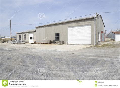 Stock Garage by Large Commercial Garage Royalty Free Stock Photo Image
