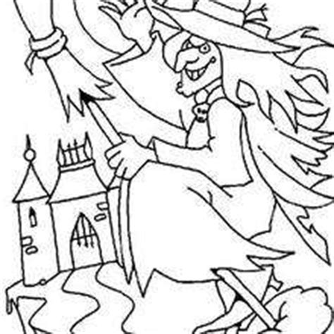 witch head coloring page scary witch s head coloring pages hellokids com
