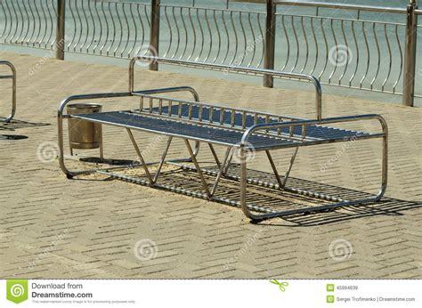 modern metal bench modern metal bench stock photo image 45994639