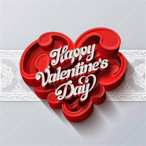 beautiful valentines day greeting card