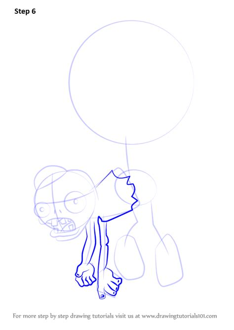 zombie sketch tutorial step by step how to draw balloon zombie from plants vs