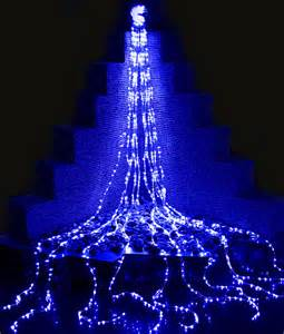 led waterfall lights blue the christmas light emporium