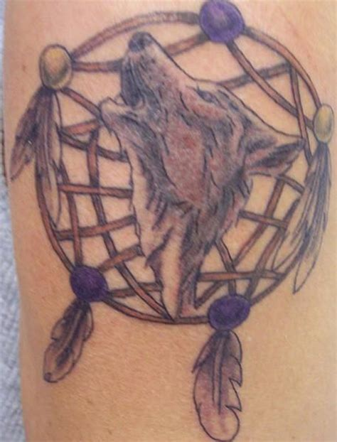 wolf tattoo dreamcatcher ideas yo tattoo