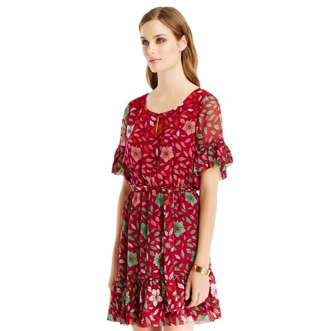Dress Of The Day Dvf Printed Tank Dress by Lyst Diane Furstenberg Dvf Janie Printed Ruffle