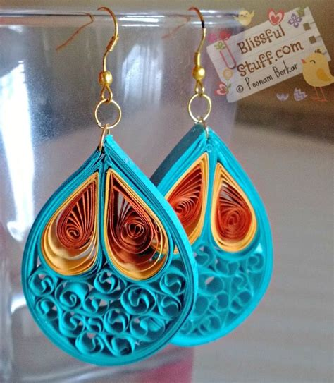 Paper Jewellery Tutorial - 17 best images about quilling paper bead earrings 3 on