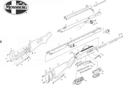 mossberg 500 parts diagram parts list mossberg 500 505 535 590 835 models