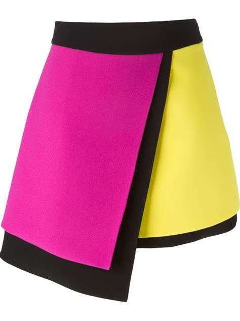 Asymmetric Flap Mini Skirt Navy fausto puglisi colour block asymmetric skirt parisi