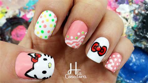 imagenes de uñas hello kitty decoracion de u 241 as hello kitty hello kitty nail art