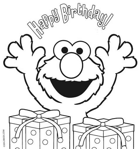 elmo coloring pages happy birthday printable elmo coloring pages for kids cool2bkids