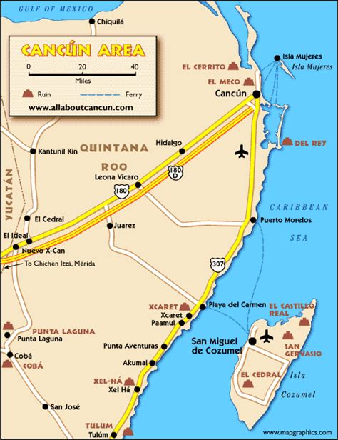 map of mexico showing cancun cancun vacation information sights