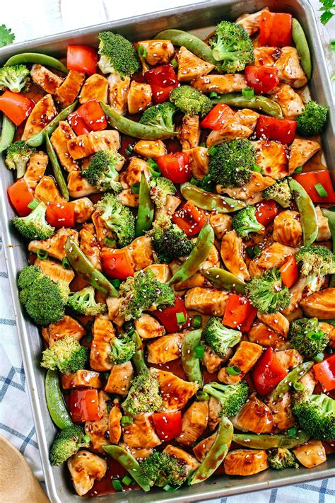 sheet pan sesame chicken and veggies eat yourself