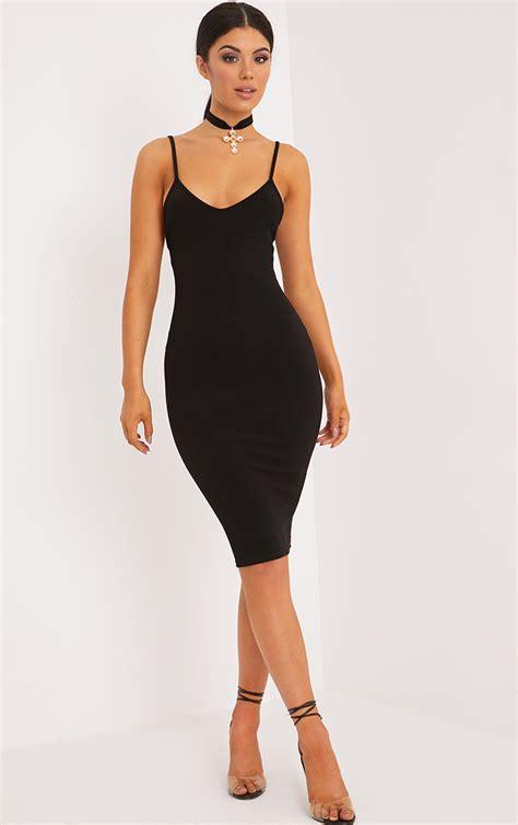 Wst 8969 Black Lace Cut Back Dress bodycon dresses cheap bodycon dress prettylittlething usa
