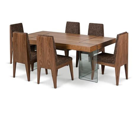 floating dining table dreamfurniture aura contemporary walnut floating