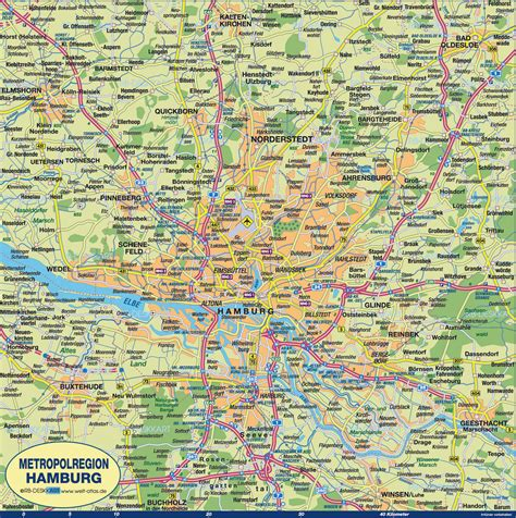hamburg karte map of hamburg region region in germany welt atlas de