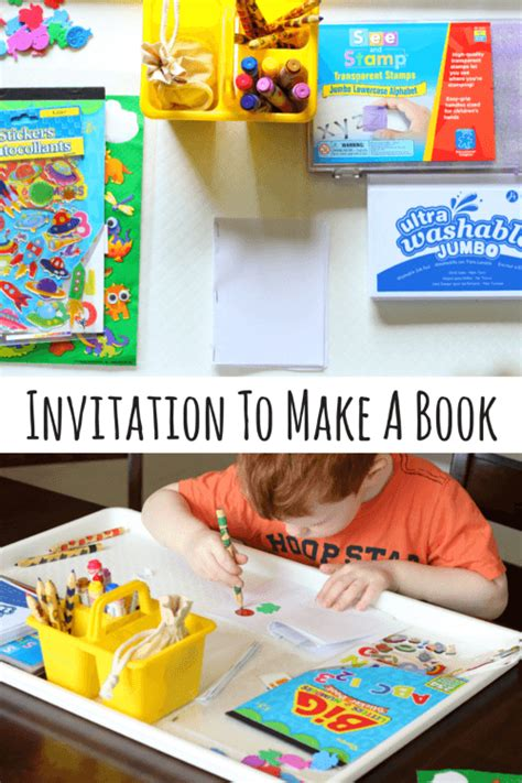 for preschoolers to make preschool invitation to make books