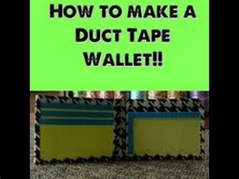 How Do You Make A Wallet Out Of Paper - how to make a duct wallet