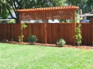 Privacy Fence With Trellis Trellis For Fence Fences