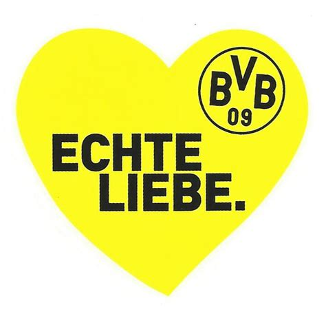 Dortmund Autoaufkleber by Bvb 09 Autoaufkleber Borussia Dortmund Echte Liebe Auto