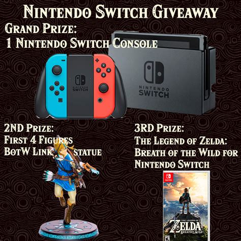 Nintendo Switch Giveaway Gleam - giving away 3 copies of loz breath of the wild linkis com