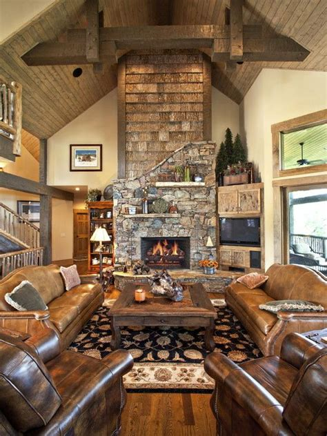 log cabin living room ideas traditional living room log cabin decorating design